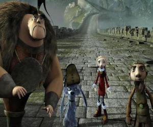 puzzel Sommige van de protagonisten van avonturen Gwizdo, Zoe, Hector en Lian-Chu