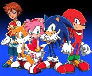 puzzel Sonic en andere personages uit de Sonic videogames