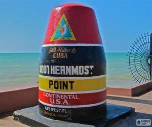 puzzel Southernmost Point, (zuidelijkste), Key West, Florida, Verenigde Staten