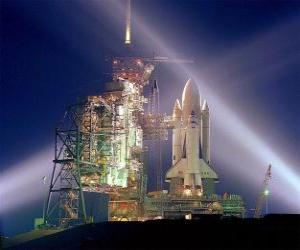 puzzel Space shuttle klaar voor lancering
