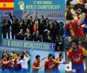 puzzel Spanje Bronzen medaille op de 2011 World Handbal