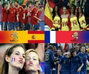 puzzel Spanje - Frankrijk, kwartfinales, Euro 2012