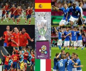 puzzel Spanje vs Italië. Euro 2012 finale