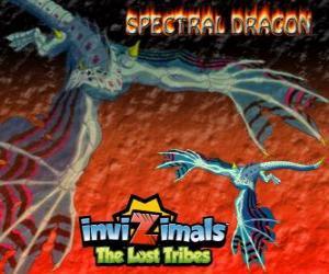 puzzel Spectral Dragon. Invizimals The Lost Tribes. Kwade invizimal die zorgt voor gemakkelijke strijden als je moedig te hebben door uw kant