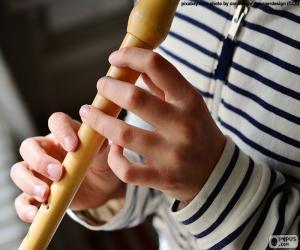puzzel Spelen van de fluit
