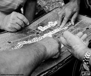 puzzel Spelen van Domino 's