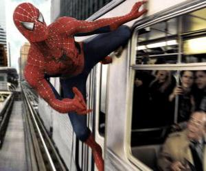 puzzel Spider-Man in actie