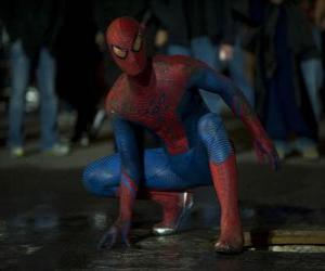 puzzel Spider-man in de straten van New York