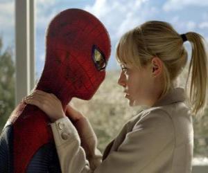 puzzel Spider-Man samen met Gwen Stacy