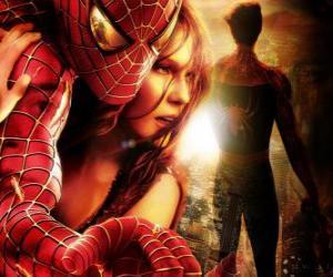 puzzel Spiderman met Mary Jane