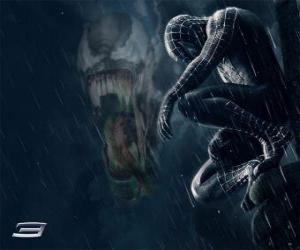puzzel Spiderman Venom aandelen met veel van zijn krachten en bekwaamheden