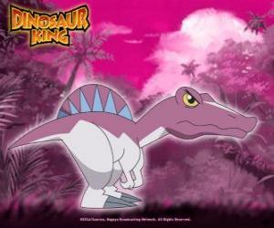 puzzel Spiny, Spino. Dinosaur Spinosaurus, eigendom van Zander van Alpha Gang