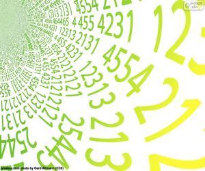 puzzel Spiraal van getallen