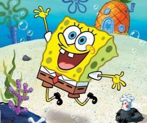puzzel SpongeBob is een zee-spons