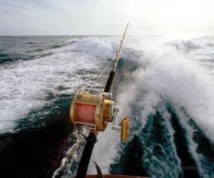 puzzel Sport vissersboot.