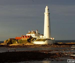 puzzel St. Mary's Lighthouse, Engeland