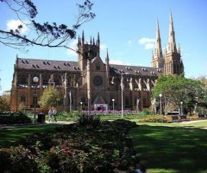 puzzel St. Mary's kathedraal, Sydney, Australië