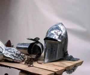 puzzel Stad en een deel van de wapenrusting van een ridder