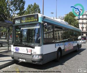 puzzel Stadsbussen van van Parijs
