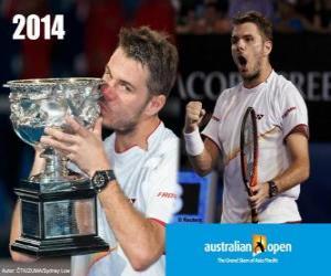 puzzel Stanislas Wawrinka kampioen Open Australië 2014