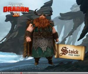puzzel Stoick, traditionele Viking Chief