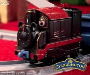 puzzel Stoomtrein Pete, de stoomlocomotief is de oudste chugger in Chuggington