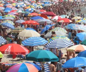 puzzel Strand parasols