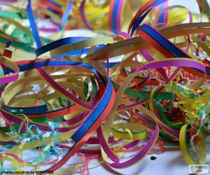 puzzel Streamers voor Carnaval