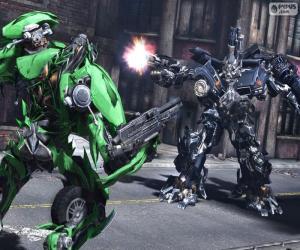 puzzel Strijd tussen twee Transformers
