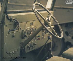 puzzel Stuurwiel van een Jeep Willys