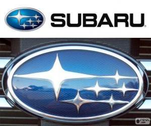 puzzel Subaru-logo, Japans automerk