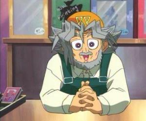 puzzel Sugoroku Muto of Solomon Muto is Yugi grootvader en de eigenaar van een winkel gezelschapsspelen