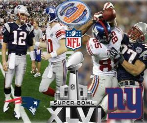 puzzel Super Bowl XLVI - New England Patriots vs New York Giants