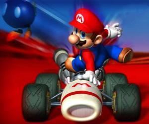 puzzel Super Mario Kart is een racespel