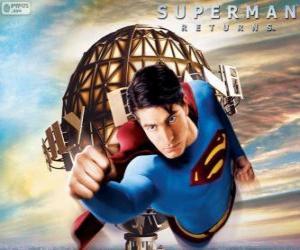 puzzel Superman, de vliegende superheld