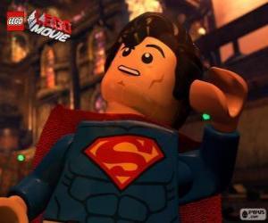 puzzel Superman, een superheld uit de film Lego