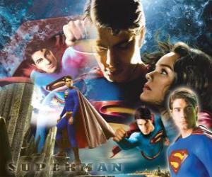 puzzel Superman en Lois Lane
