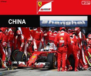 puzzel S.Vettel Grote Prijs van China 2016
