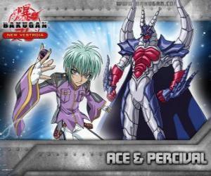 puzzel Swemco Ace en Percival Bakugan