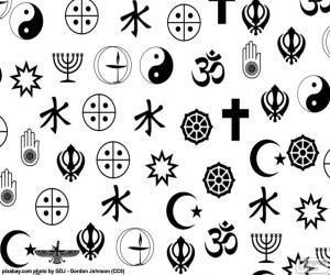 puzzel Symbolen religies