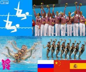 puzzel Synchroonzwemmen team Londen 2012