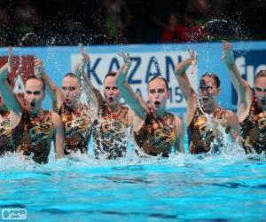 puzzel Synchroonzwemmen