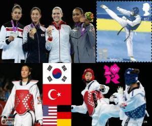 puzzel Taekwondo -67kg vrouwen Londen 2012