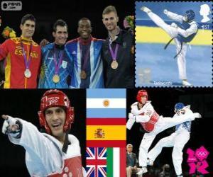 puzzel Taekwondo -80 kg mannen Londen 2012