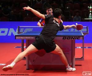 puzzel Tafeltennis of ping-pong match