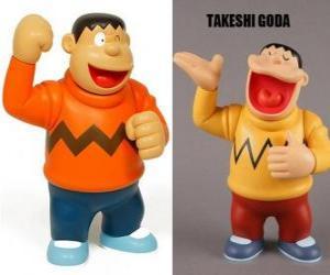 puzzel Takeshi Goda bekend door zijn collega als Jaian want hij is een grote en een sterke jongen