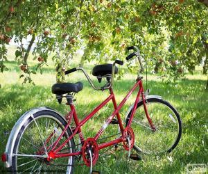puzzel Tandem van twee fietsers