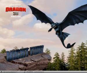 puzzel Tandloos zijn kleine draken die kunnen vliegen hoger, sneller en verder dan alle andere draak