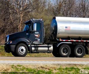 puzzel Tankauto - Tanker vrachtwagen
