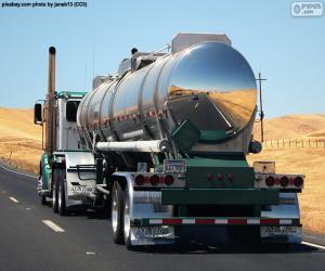 puzzel Tankwagen op weg